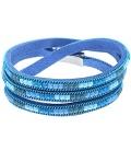 Blauwe wikkelarmband met magneet sluiting