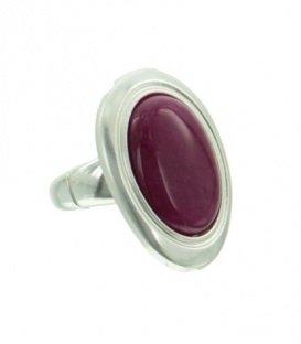 Fuchsia roze ring met ovale steen