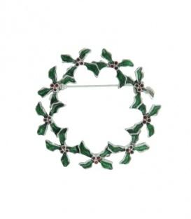 Groene broche Kerstkrans