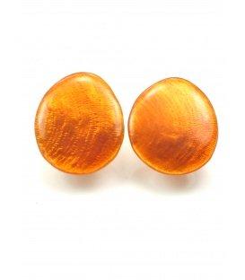 Oranje ovale oorclips van Culture Mix