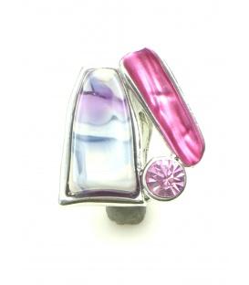 Roze driehoekige oorbellen