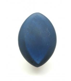 Donkerblauwe ovale oorclips met parelmoer inleg
