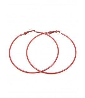 Rode oorringen (creolen) van 7 cm