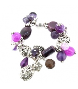 Licht paarse beads armband met bedels