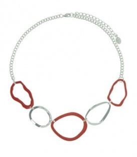 A-Zone oranje korte halsketting