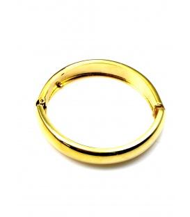 Mooie grote ronde goudkleurige oorclips