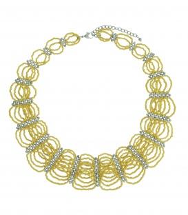 Gele korte kralen halsketting