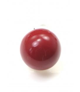 Rode halfronde kunsstof oorclips