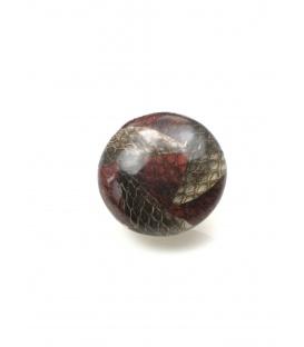 Mooie rood/bruine oorclips met slangenhuid print Diameter van de clip oorbel is 3 cm.