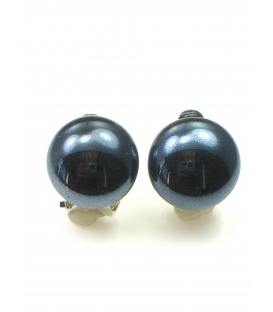 Donkerblauwe ronde oorclips
