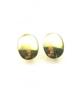 Ovale dunne metalen goudkleurige oorclips