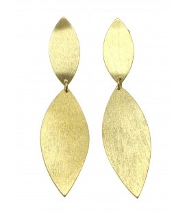 Culture Mix lange goudkleurige dunne oorclips
