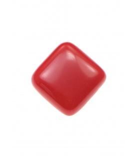 Rode vierkante kunststof oorclips