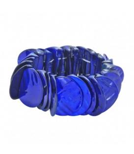 Blauwe schelp armband