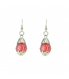 Rode oorbellen met een mooie hanger