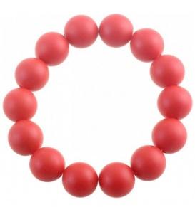Rode armband van kunsstof kralen