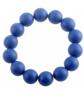 Blauwe armband van kunststof kralen