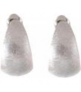 Zilverkleurige oorbellen met een gekrast motief