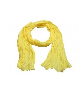 Gele dunne langwerpige sjaal