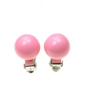 Roze clipoorbellen (1,4 cm)