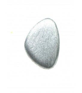 Oorclips van Culture Mix in een geborstelde zilverkleur