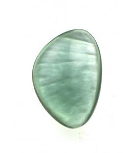 Culture Mix groene oorclips met parelmoer inleg