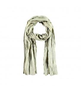 Langwerpige lichtgroene met witte zachte sjaal van katoen met viscose