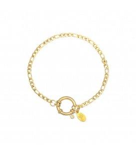 Goudkleurige armband waar je leuke bedels aan kunt hangen