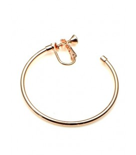Rose gold oorringen, oorclips, creool (4,5 cm)