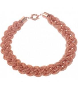 Rose gold halsketting met gaas strengen