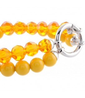 Gele kralen armband (ringsluiting)