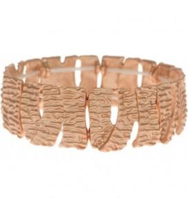 Armband van brede rose goldkleurige schakels