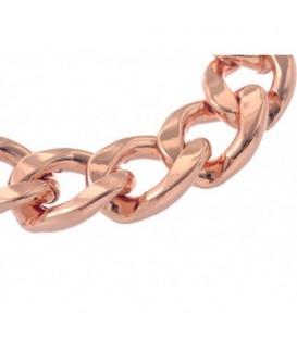 Armband van rose gold kleurige metalen schakels