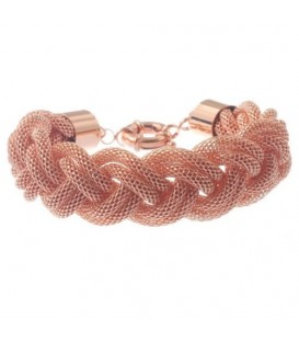Armband van rose goldkleurig metaalgaas