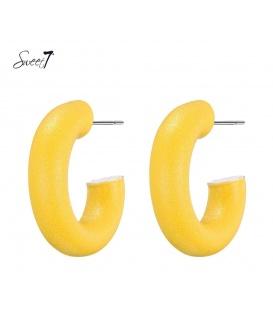 Gele ronde oorbellen van Sweet7