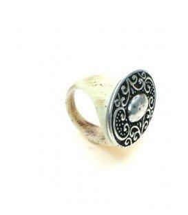 Ring van hoorn met metalen bewerkte plaat (19 mm)