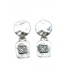 Zilverkleurige metalen oorclips van Toenga