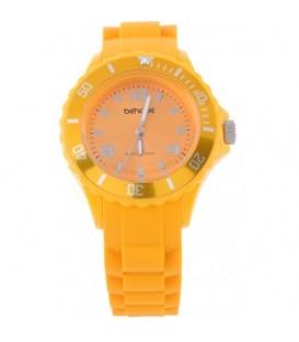 Gele armband horloge met gele rand