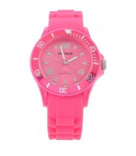 Roze armband horloge met roze rand