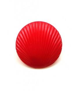 Rode schelpvormige oorbellen (volledig kunststof) 2,5 cm
