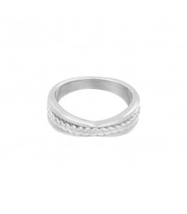 Zilverkleurige ring met verdikking (18)