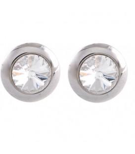 Swarovski oorbellen met heldere strass steen