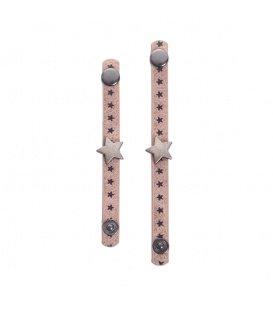Set van twee roze sjaal riemen, scarvelets