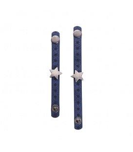 Set van twee blauwe sjaal riemen, scarvelets