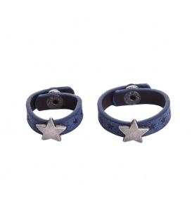 Set van twee blauwe sjaal riemen met ster, scarvelets