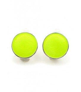 Heldere groen gele ronde oorclips