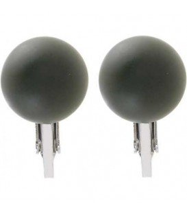 Olijfgroene ronde oorclips
