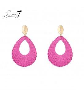 Oorstekers met roze hanger