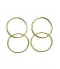 Goudkleurige oorhangers van 2 ringen
