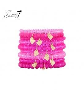 Armbanden met roze kralen